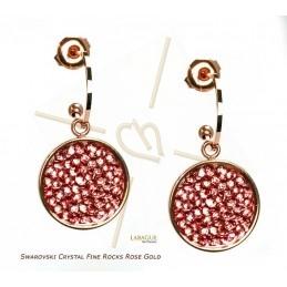 Boucles d'oreille acier Fashion rond 15mm Rose Gold