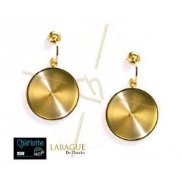 Earrings steel Fashion rond 24mm Gold