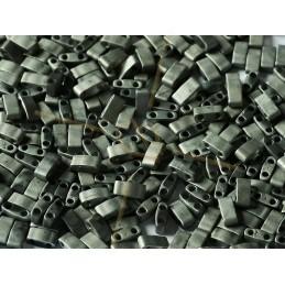 Half Tila Miyuki 5*2mm Crystal Chrome Full Matted 55105