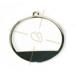 anneau de montage demi 20mm metal avec anneau rhodium