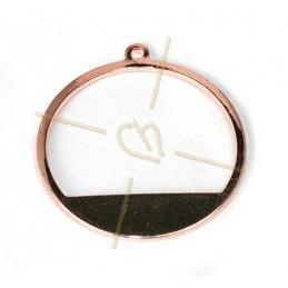 anneau de montage demi 20mm metal avec anneau rose gold