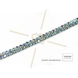 Swarovski Crystal Mesh 2-rijen Light Sapphire Shimmer