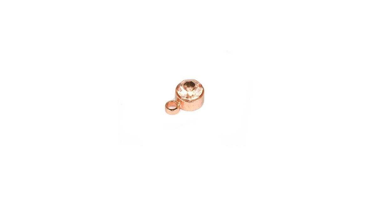 hanger met strass 4mm rose gold