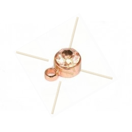 pendant with strass 4mm rose gold