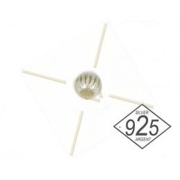 Lentils parels 6.2.5mm 2-gaatjes Lustred Bronze Lilla