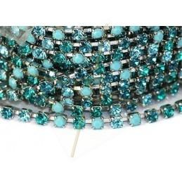 chaine acier avec strass sertie PP24 Turquoise