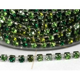 chain steel with strass PP24 Green