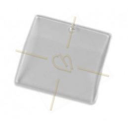 pendentif resine carré 45mm transparant
