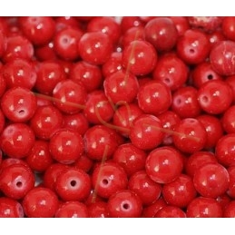 Pierre montagne rouge ronde 8mm