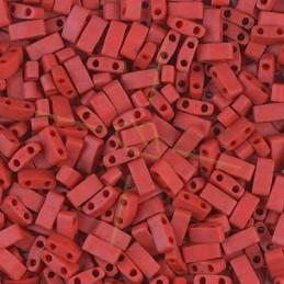 Half Tila Miyuki 5*2mm Orange Red Opaque Matted