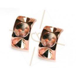 boucle d'oreille pour 3 x ss39 8mm Rose gold