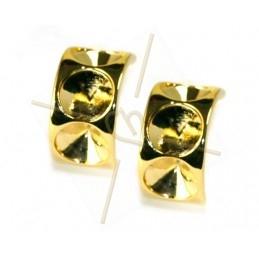 boucle d'oreille pour 3 x ss39 8mm gold