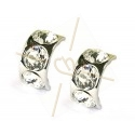 earrings for 3 x ss39 8mm Rhodium