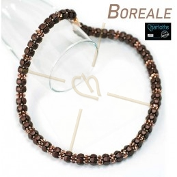 Kit Boreale halsketting Brown Rose Gold