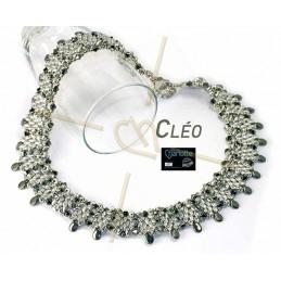 Kit Cléo halsketting zwart zilver