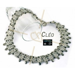 Kit Necklace Cléo black silver