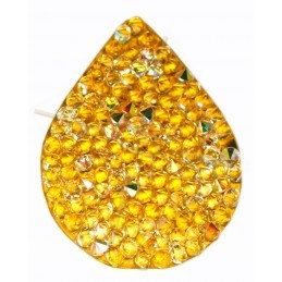 Swarovski Fine Rocks druppel 21*28mm Crystal AB - gold