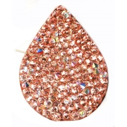 Swarovski Fine Rocks druppel 21*28mm Crystal AB - Rose gold