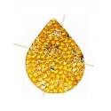 Swarovski Fine Rocks druppel 16*21mm Crystal AB - gold