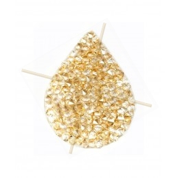 Swarovski Fine Rocks Drop 16*21mm Golden Shadow