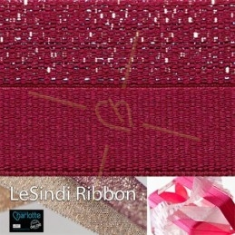 Elastic LeSindi ribbon 12mm Red