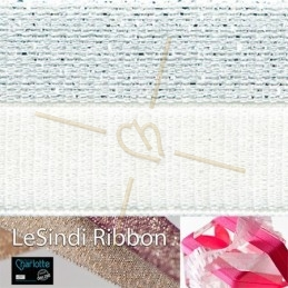 Elastic LeSindi ribbon 12mm White