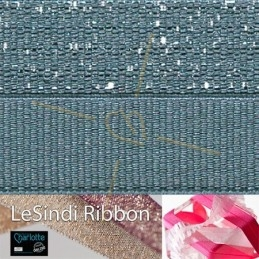 Elastic LeSindi ribbon 12mm Grey