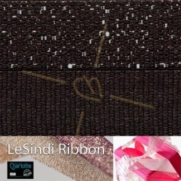 Elastic LeSindi ribbon 12mm Dark Brown