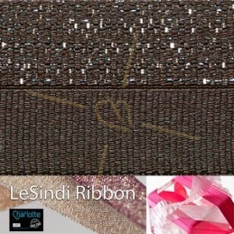 Elastic LeSindi ribbon 12mm Brown