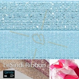 Elastic LeSindi ribbon 12mm lightblue