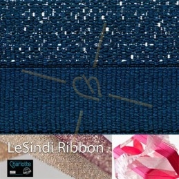 Elastic LeSindi ribbon 12mm Navy