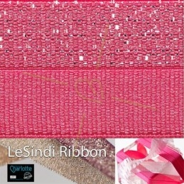 Elastic LeSindi ribbon 12mm Pink