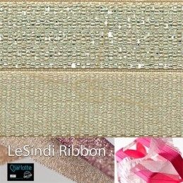 Elastic LeSindi ribbon 12mm Anisgreen