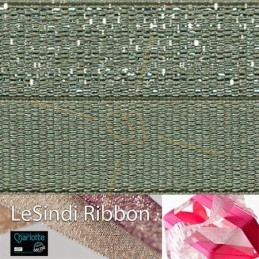 Elastic LeSindi ribbon 12mm Khaki