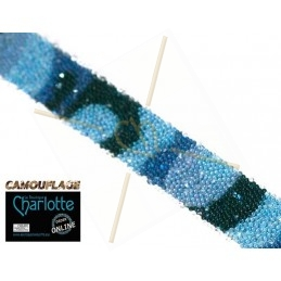Swarovski Crystal Fabric 10mm camouflage Blue