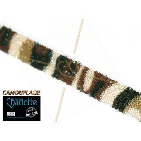 Swarovski Crystal Fabric 10mm camouflage bruin