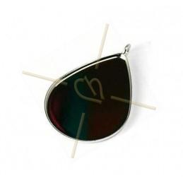 pendentif Larme 16*21mm Rhodium