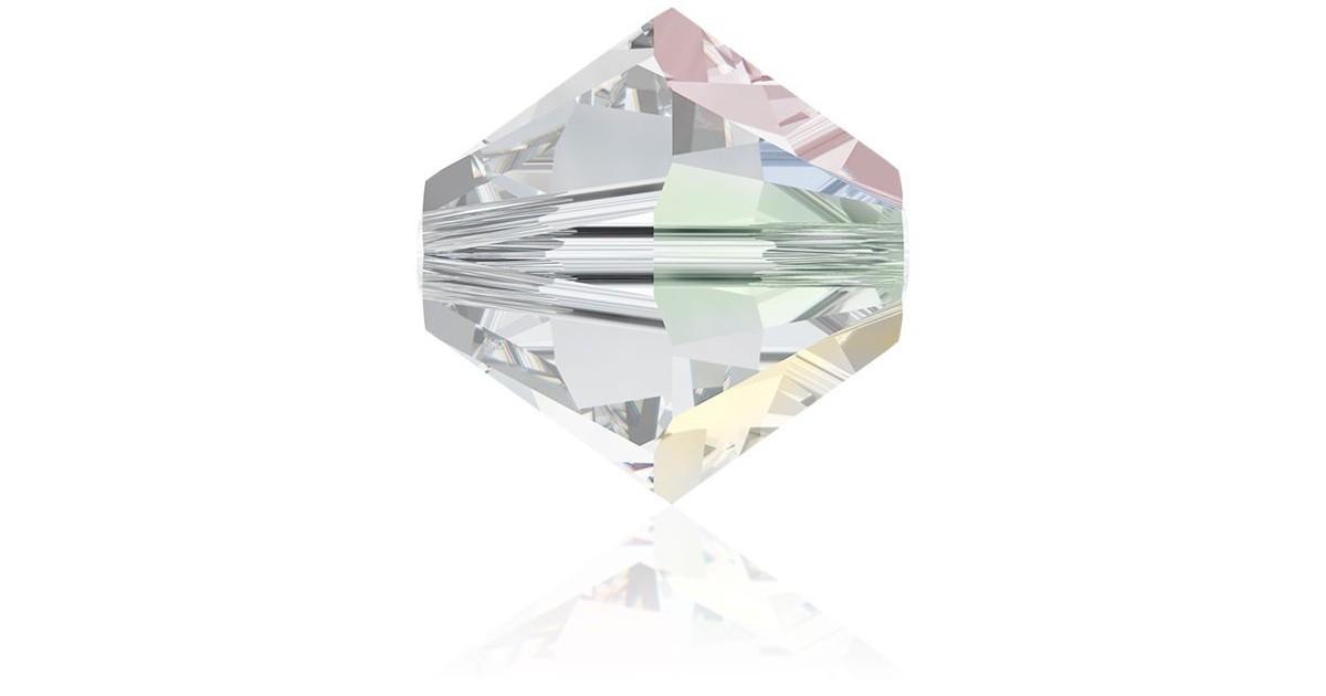 6mm Crystal AB Swarovski Toupie 001AB