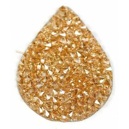copy of Swarovski Fine Rocks Larme 21*28mm Golden Shadow - gold paillete
