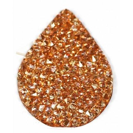 Swarovski Fine Rocks druppel 21*28mm Golden Shadow - Rose gold