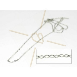 chain steel 60cm with clasp