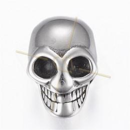 """tussenstuk staal """"skull"""" 18mm"""