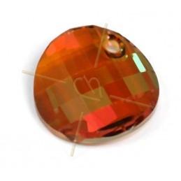 cabochon bead 2-hole 6mm Crystal Full Labrador