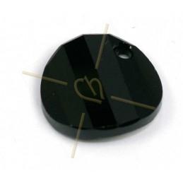 cabochon bead 2-hole 6mm Crystal Full Amber