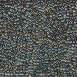 Crescent beads 3*10mm Mat Iris Blue