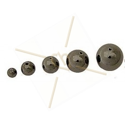 Tila bead dk. grey rnbw luster