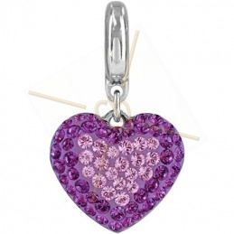 Becharmed Pave Heart 14mm...