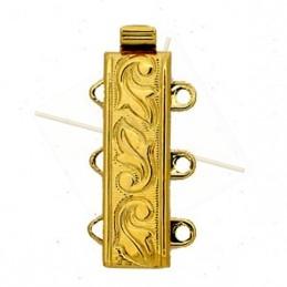 schuifslot 3-rijen Gold