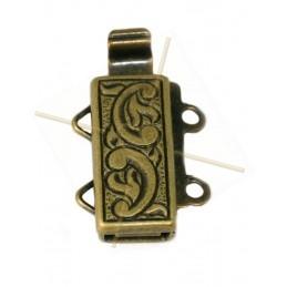 Fermoir 2-rangs Bronze 12*6mm