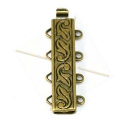 Clasp slider 4-row Bronze